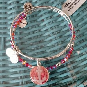 """ALEX AND ANI ART INFUSION """"ANCHOR SET OF 2"""" BNWT!!"""